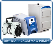 Dry Diaphragm Vacuum Pumps - Edwards, KNF, Leybold, Pfeiffer, Vacuubrand Diaphragm Pumps