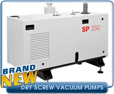 Dry Screw And Piston Pumps - Leybold and Pfeiffer Dry Screw And Piston Vacuum Pumps