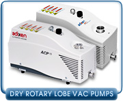 Dry Rotary Lobe Roughing Vacuum Pumps - New Dry Rotary Lobe Vacuum Pumps & Dry Rotary Lobe Vacuum Pump Rebuild Kits