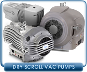 Dry Scroll Vacuum Pumps - New & Rebuilt Dry Scroll Vacuum Pumps, Parts, & Rebuilding Service