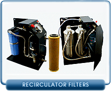 Alcatel Oil Recirculating Filters - Alcatel DE1 and DE2 Oil Recirculators
