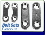 Conflat 1.33 to 10 Inch Flange Platenuts, For US Bolts, Bolt Size 8-32 to 5-16 - 24