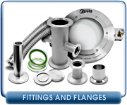 Vacuum Fittings, Flanges, & Hardware - NW, KF, ISO, Conflat, & ASA Fittings & Flanges