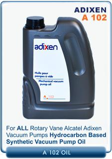 Alcatel Adixen Pfeiffer A102 Hydrocarbon Mineral Oil Vacuum Pump Oil, 2 Liter (~2 Quart) PN 010996