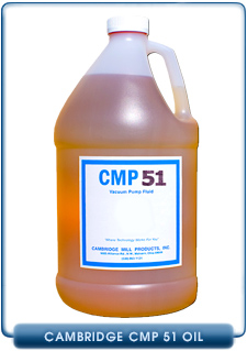 Cambridge Mill Products CMP 51 Vacuum Pump Oil, Replaces Stokes V Lube F & Kinney KV100, 1 Gallon