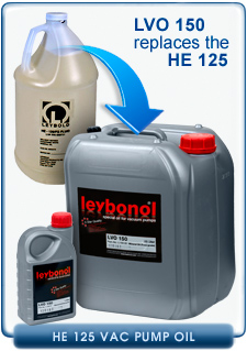 Oerlikon Leybold HE-125 FG FOOD GRADE Vacuum Pump Oil for SOGEVAC Vacuum Pumps