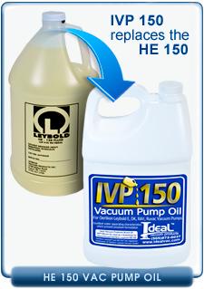 Oerlikon Leybold HE-150 Hydrocarbon Vacuum Pump Oil for Leybold E, DK, RAV, Ruvac Pumps