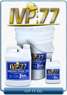 Ideal Vacuum Products IVP 77 Brand Vacuum Oil, Our Substitute for Oerlikon Leybold GS77