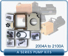 Alcatel A Series Rotary Vane Vacuum Pump Repair and Rebuild Kits