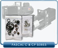 Alcatel Corrosive Pascal C & CP Rotary Vane Vacuum Pump Rebuild and Repair Gasket Kits