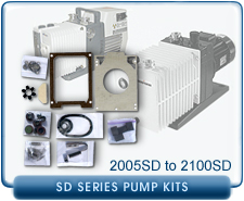 Alcatel SD Series Rotary Vane Vacuum Pump Repair and Rebuild Kits