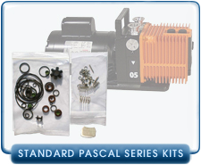 Alcatel Standard Pascal Rotary Vane Vacuum Pump Rebuild and Repair Gasket Kits