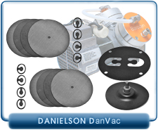 Danielson Diaphragm Vacuum Pump Gasket Service Kit for pump model PU536-N726.3-7.92