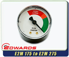 Edwards Oil Filter Gauge for E1M175, E2M175, E1M275, E2M275 Vacuum Pumps