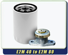 Spin on Oil Filter - Vibration Isolators for Edwards E1M40, E2M40, E1M80, E2M80 Rotary Vane Pumps