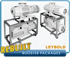 Oerlikon Leybold RuVac WS 1001 WS1001 Blower Booster And D65B Backing Vacuum Pump Package Rebuilt