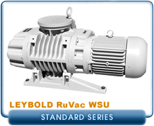 Oerlikon Leybold RuVac WSU-251 to 2001 Roots Blower Booster Vacuum Pump, Hydrocarbon