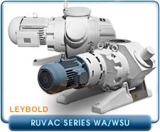 Leybold RuVac WAU Industrial Series, Leybold RuVac WSU Chemical Series, Leybold RuVac WAU Standard Series