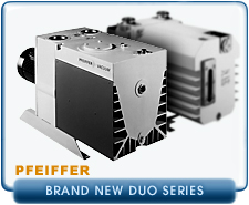 New Pfeiffer DUO Rotary Vane Vacuum Pumps - In Stock