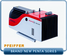 Pfeiffer Pentaline Penta 10, 20, and 35 Power Saving Vacuum Pumps