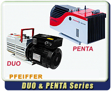 New Pfeiffer DUO And Penta Smart Rotary Vane Vacuum Pumps - In Stock