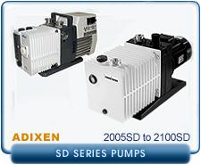 Alcatel Standrad SD Series Rebuilt Rotary Vane Vacuum Pumps