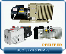 Pfeiffer Balzers DUO Series Rotary Vane Vacuum Pumps