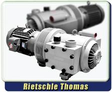 Rebuilt Rietschle Thomas VTB 250 Macro Dry No-Oil Rotary Vane Vacuum Pump, 300 CFM