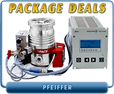 Pfeiffer Turbo Pump Package Deals - HiPace 80 & HiPace 300 Systems