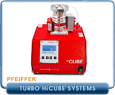 Pfeiffer Balzers Turbo Molecular Vacuum Pump Systems - HiCube HiPace Systems