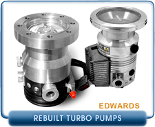 Rebuilt Edwards EXT High Vacuum Turbomolecular Vacuum Pumps