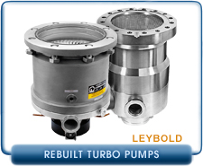 Rebuilt Leybold Turbo Molecular & Turbo Drag Pumps