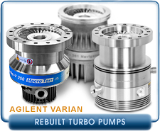 Rebuilt Varian Turbo Molecular High Vacuum Pumps