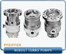 Rebuilt Pfeiffer Balzers High Vacuum Turbomolecular Vacuum Pumps