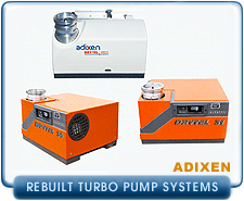 Rebuilt Alcatel Drytel Compact Dry Turbo Pump Systems