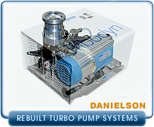 Rebuilt Daneilson Tribodyn Compact Dry Turbo Pump Systems