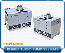 Rebuilt Edwards Compact Dry Turbo Pump Systems