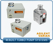 Rebuilt Varian Compact Dry Turbo Pump Systems