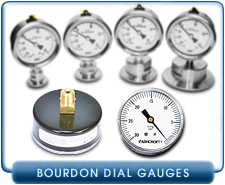 Needle Dial Vacuum Pressure Gauge, 0 to 30 inHg, With 1/4 inch NPT male brass fitting