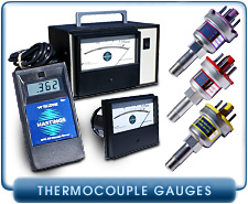 Teledyne Hastings Thermocouple Gauge tubes, portable or cabinet vacuum gauge Controllers, reference tube DB-16, DB-18, DB-20