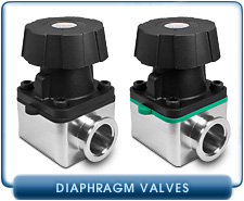 KF Flanged, Manual Viton or Nitrile, Aluminum Diaphragm Valves