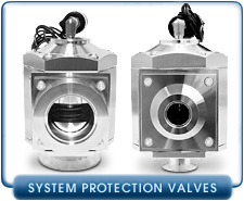 Vacuum System Protection Valves - These valves protect the vacuum system from the vacuum when powered down.