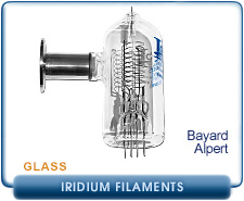 Hot Cathode Ion Gauge Tubes Iridium Filament