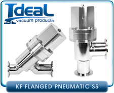 Pneumatic Angle Vacuum or Air-Inline Valve, ISO Series, Stainless Steel,