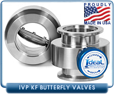 Vacuum Butterfly Valves - NW and KF Butterfly Valves