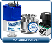 Vacuum Valves, Angle & Inline Bellows Valves, Ball Valves, Gate Valves