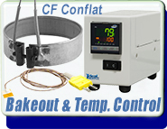 Conflat Bakeout and Temperature Control Controllers Nozzle Heaters Thinband CF Thermocouple