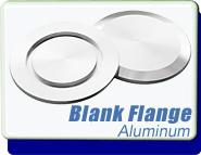 Blank Flange KF-10 Vacuum Fittings, ISO-KF Flange Size NW-10 to 50, ALUMINUM