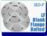 Bolted Blank Flange, NW-80 to 250 Vacuum Fittings, ISO-LF Large Flange Size, 8 to 12 bolt holes, Stainless Steel
