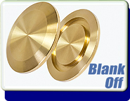 Blank Off Flange Yellow Brass, KF-16 Vacuum Fittings, ISO-KF Flange Size NW-16 to NW-50